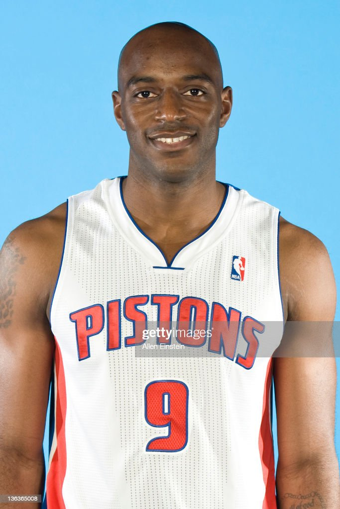 <a gi-track='captionPersonalityLinkClicked' href=/galleries/search?phrase=Damien+Wilkins&family=editorial&specificpeople=204651 ng-click='$event.stopPropagation()'>Damien Wilkins</a> #9 of the Detroit Pistons poses for a portrait during media day at The Palace of Auburn Hills on December 14, 2011 in Auburn Hills, Michigan.