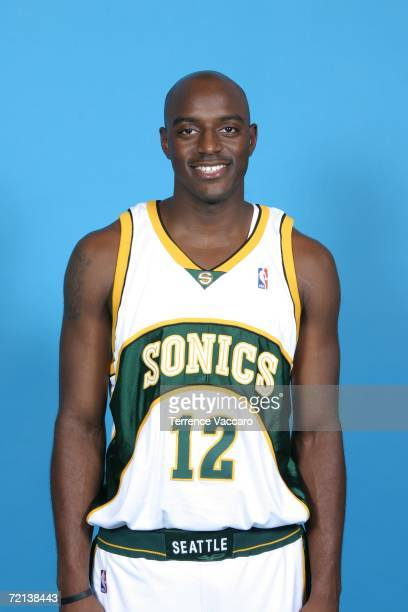 Damien Wilkins of the Seattle Sonics poses during NBA Media Day on October 2 2006 at the Furtado Center in Seattle Washington NOTE TO USER User...
