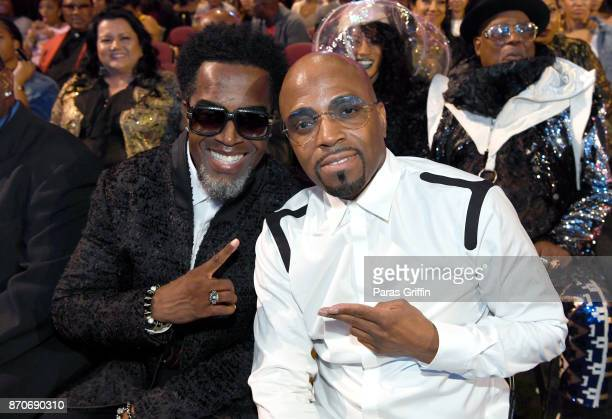 Damion Hall and Teddy Riley attend the 2017 Soul Train Awards presented by BET at the Orleans Arena on November 5 2017 in Las Vegas Nevada