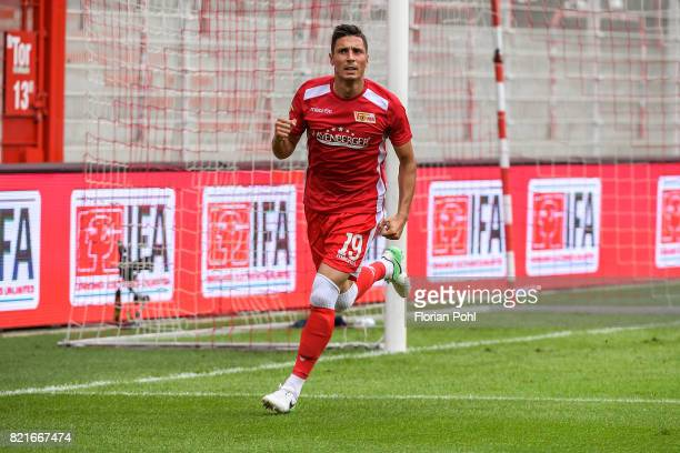Damir Kreilach of 1 FC Union Berlin celebrates after scoring the 10 during the game between Union Berlin and the Queens Park Rangers on july 24 2017...