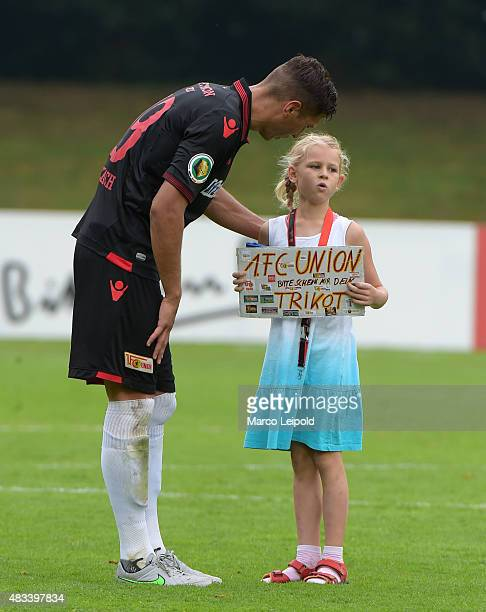 Damir Kreilach of 1 FC Union Berlin during the DFB Cup match between FC Viktoria Koeln and Union Berlin at Sportanlage Hohenberg on August 8 2015 in...