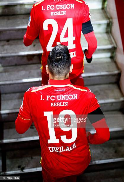 Damir Kreilach of Union Berlin enters the pitch prior to the Second Bundesliga match between 1 FC Union Berlin and Eintracht Braunschweig at Stadion...