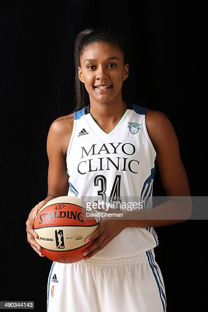 Damiris Dantas of the Minnesota Lynx poses for portraits during 2014 Media Day on May 12 2014 at the Minnesota Timberwolves and Lynx LifeTime Fitness...