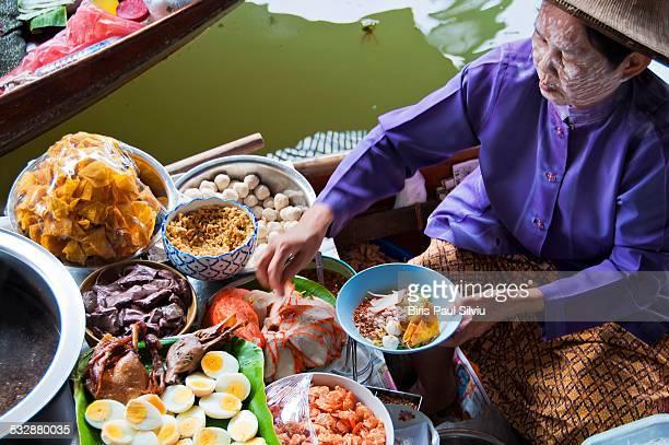 Damnoen Saduak Floating Maket part of the Thai culture and tradition Bangkok Ratchaburi Thailand