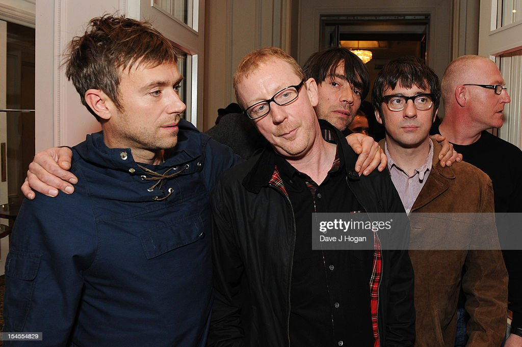 <a gi-track='captionPersonalityLinkClicked' href=/galleries/search?phrase=Damon+Albarn&family=editorial&specificpeople=207168 ng-click='$event.stopPropagation()'>Damon Albarn</a>, Alex James, <a gi-track='captionPersonalityLinkClicked' href=/galleries/search?phrase=Dave+Rowntree&family=editorial&specificpeople=886127 ng-click='$event.stopPropagation()'>Dave Rowntree</a> and <a gi-track='captionPersonalityLinkClicked' href=/galleries/search?phrase=Graham+Coxon&family=editorial&specificpeople=212838 ng-click='$event.stopPropagation()'>Graham Coxon</a> of Blur attend the Q Awards 2012 at The Grosvenor House Hotel on October 22, 2012 in London, England.