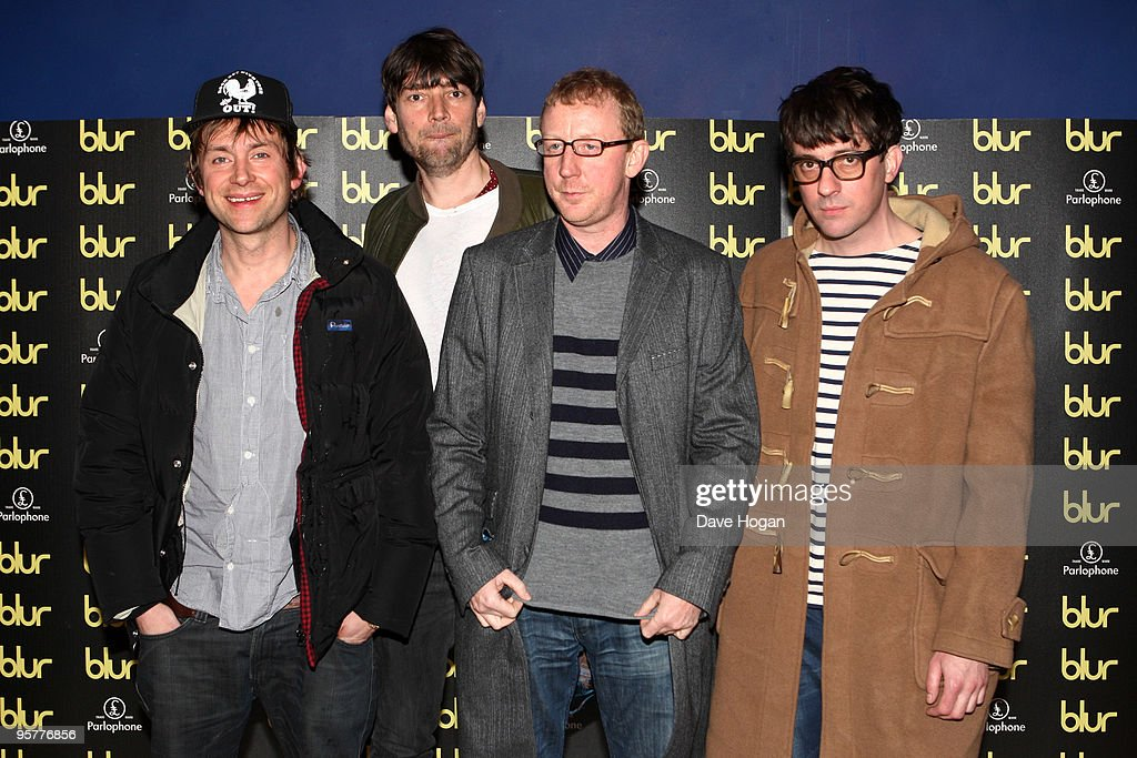 Damon Albarn, Alex James, Dave Rowntree and Graham Coxon of Blur attend the world premiere of 'No Distance Left To Run' a documentary film about Blur held the at Odeon West End on January 14, 2010 in London, England.