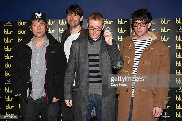 Damon Albarn Alex James Dave Rowntree and Graham Coxon of Blur attend the world premiere of 'No Distance Left To Run' a documentary film about Blur...