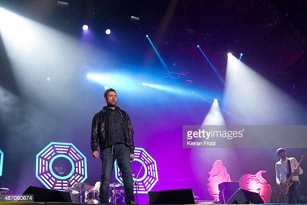 Damon Albarn and Alex James of Blur performs at Electric Picnic on September 5 2015 in Stradbally Ireland
