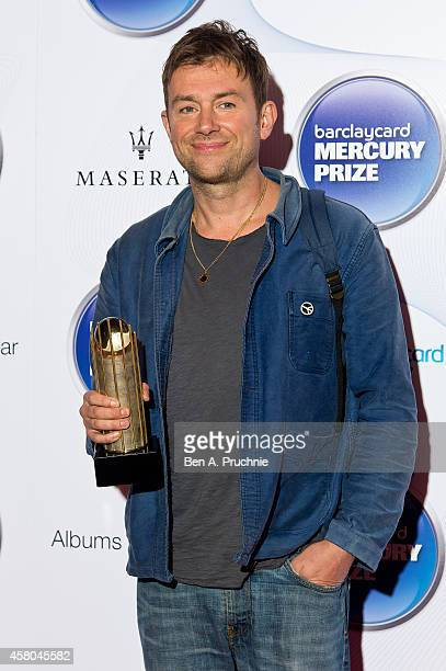Damon Albarn attends the Barclaycard Mercury Prize at The Roundhouse on October 29 2014 in London England