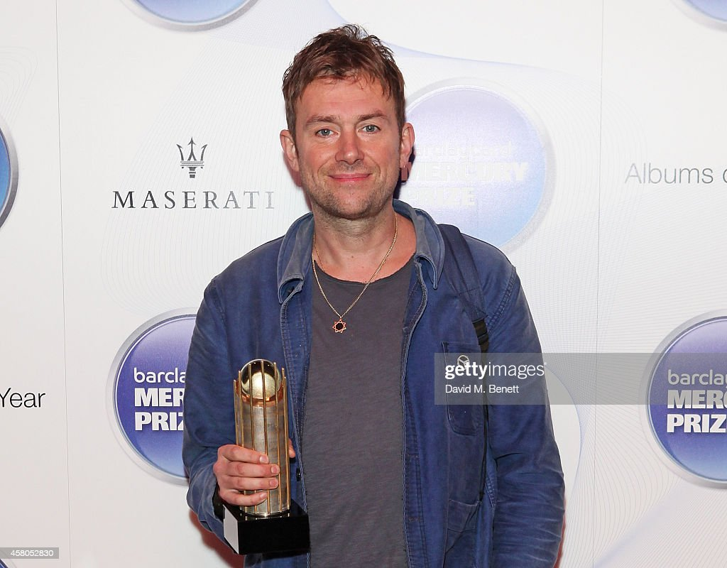 Damon Albarn attends the Barclaycard Mercury Prize at The Roundhouse on 29th October 2014 in London, England.