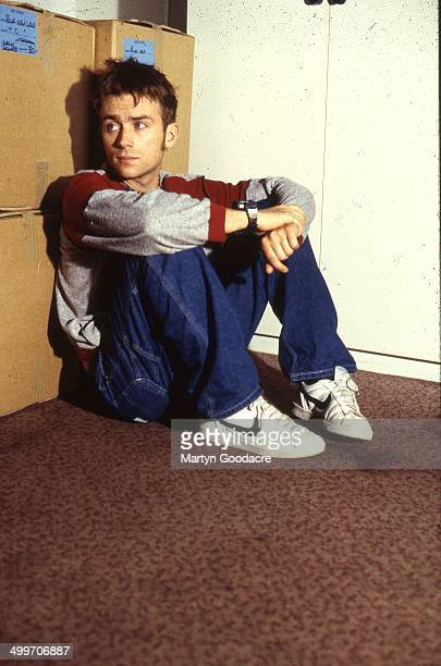 Damon Albarn of Blur backstage at Wembley Arena London United Kingdom 1995