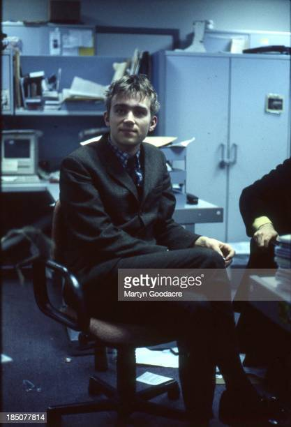 Damon Albarn of Blur in the NME offices London United Kingdom 1992