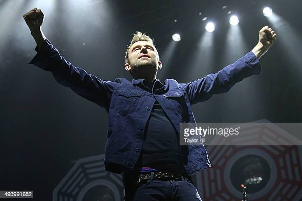 Damon Albarn of Blur performs at Madison Square Garden on October 23 2015 in New York City