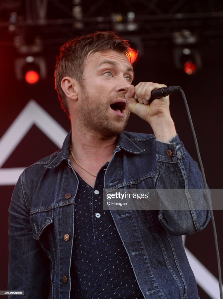 Damon Albarn of Blur performs during the 2014 Bonnaroo Music & Arts Festival on June 14, 2014 in Manchester, Tennessee.