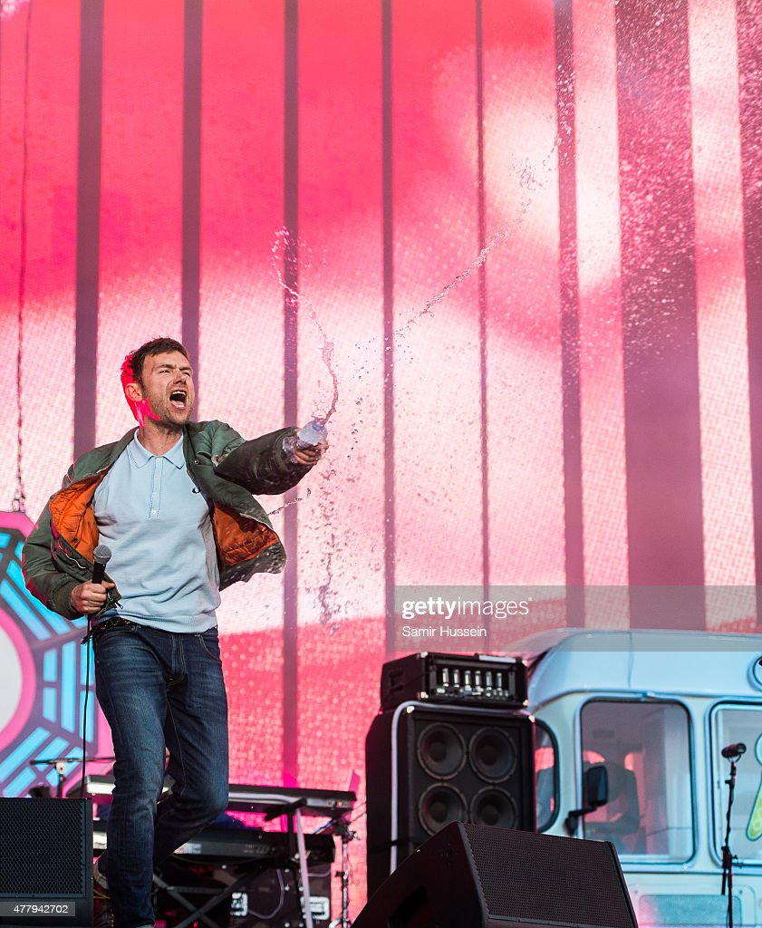 Damon Albarn of Blur performs live at the British Summer Time 2015 at Hyde Park on June 20, 2015 in London, England.