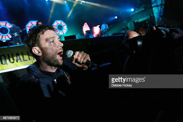Damon Albarn of Blur performs on day 2 of the Electric Picnic Festival at Stradbally Hall Estate on September 5 2015 in Stradbally Ireland