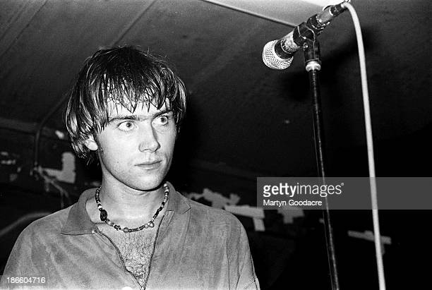 Damon Albarn of Blur performs on stage London United Kingdom 1990