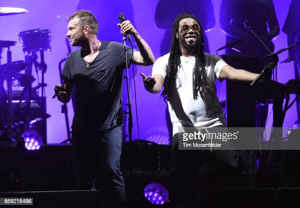 Damon Albarn of Gorillaz and DRAM perform during the Austin City Limits Music Festival at Zilker Park on October 8 2017 in Austin Texas
