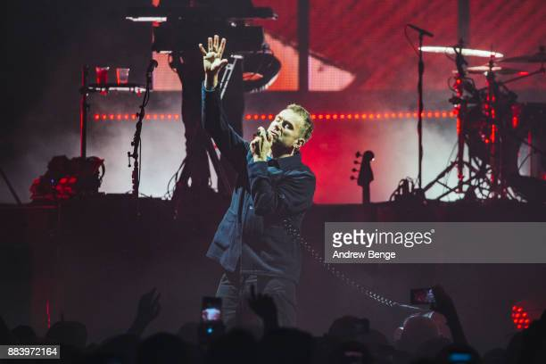 Damon Albarn of Gorillaz perform at Manchester Arena on December 1 2017 in Manchester England