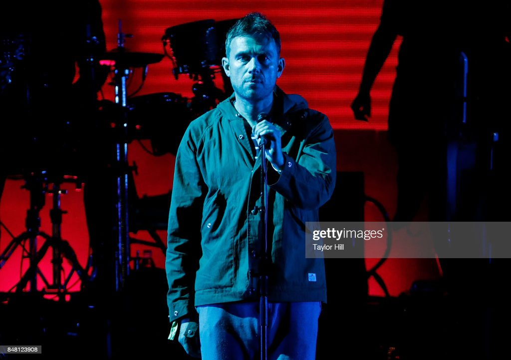 Damon Albarn of Gorillaz perform onstage during Day 2 at The Meadows Music & Arts Festival at Citi Field on September 16, 2017 in New York City.