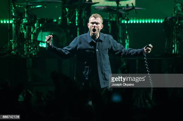 Damon Albarn of Gorillaz performs at The O2 Arena on December 5 2017 in London England