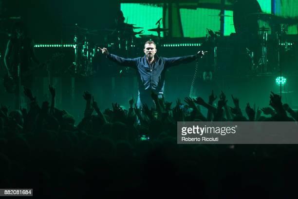 Damon Albarn of Gorillaz performs at The SSE Hydro on November 29 2017 in Glasgow Scotland