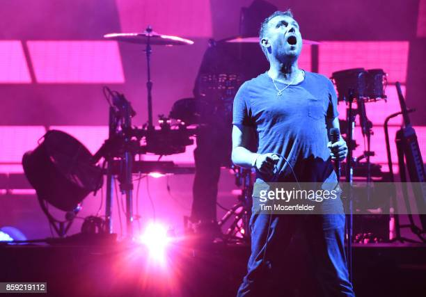 Damon Albarn of Gorillaz performs during the Austin City Limits Music Festival at Zilker Park on October 8 2017 in Austin Texas