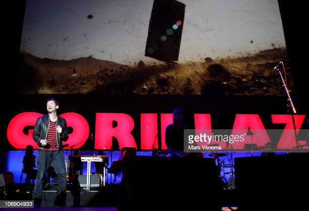 Damon Albarn of Gorillaz performs live at Heineken Music Hall on November 15 2010 in Amsterdam Netherlands