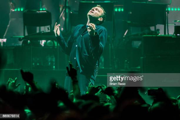 Damon Albarn of Gorillaz performs live on stage at The O2 Arena on December 4 2017 in London England