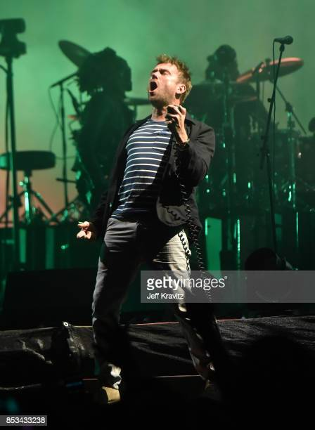 Damon Albarn of Gorillaz performs on Downtown Stage during day 3 of the 2017 Life Is Beautiful Festival on September 24 2017 in Las Vegas Nevada