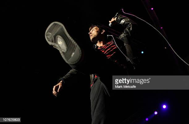 Damon Albarn of Gorillaz performs on stage at the Sydney Entertainment Centre on December 16 2010 in Sydney Australia