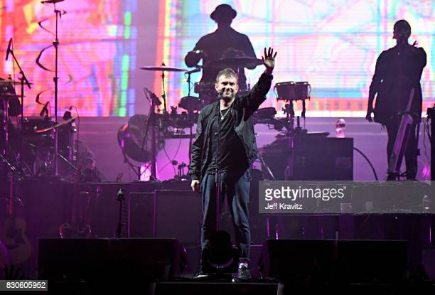 Damon Albarn of Gorillaz performs on the Lands End stage during the 2017 Outside Lands Music And Arts Festival at Golden Gate Park on August 11 2017...