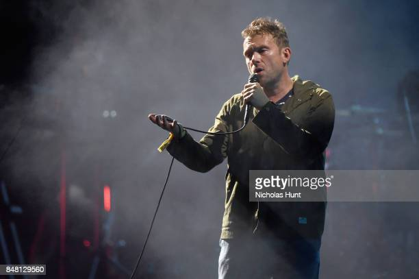 Damon Albarn of Gorillaz performs onstage during the Meadows Music and Arts Festival Day 2 at Citi Field on September 16 2017 in New York City