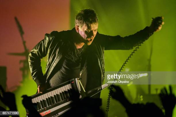 Damon Albarn of Gorillaz performs the new album 'Humanz' live on March 24 2017 in London United Kingdom