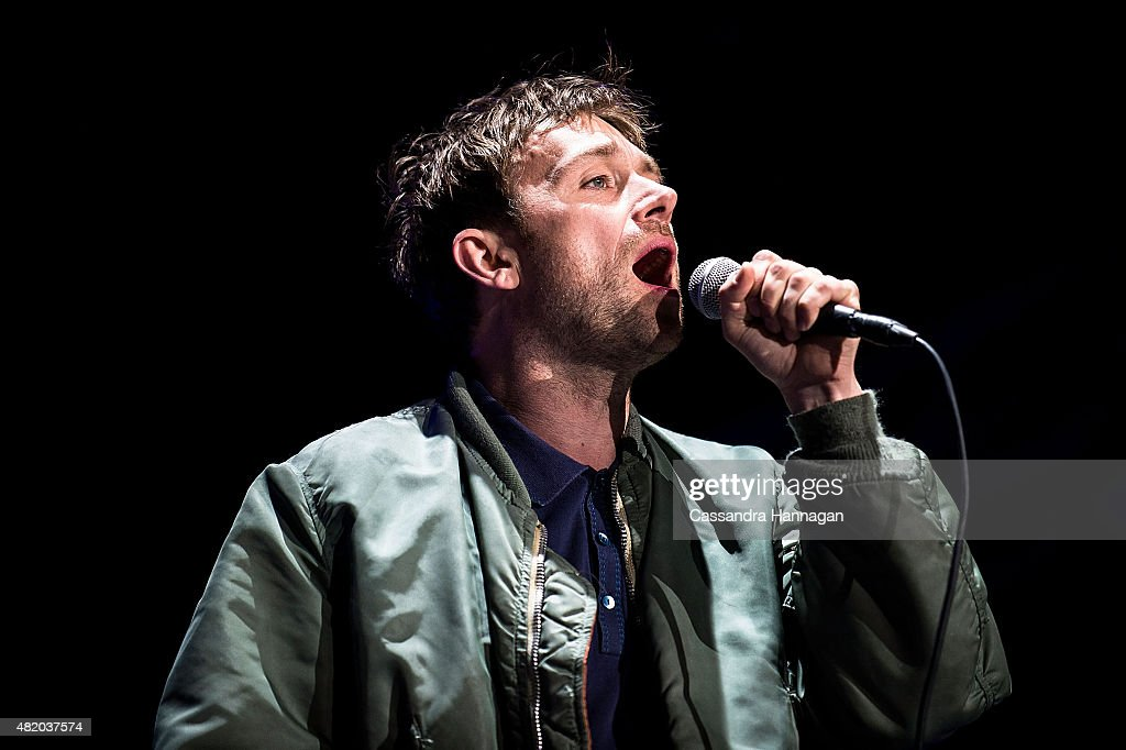 Damon Albarn of the band Blur performs for fans during Splendour in the Grass on July 26 2015 in Byron Bay Australia