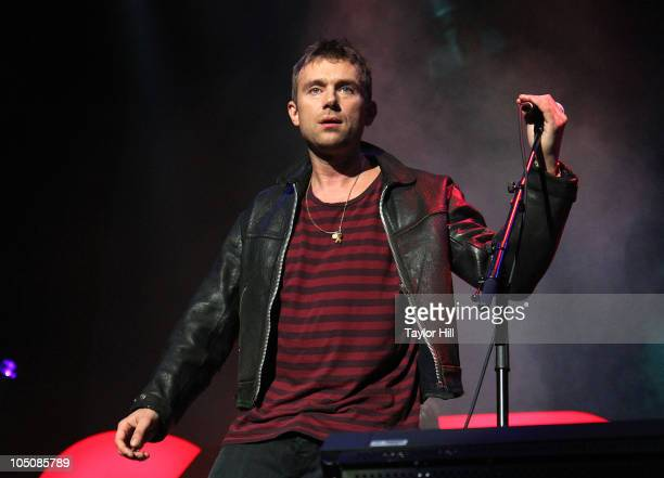 Damon Albarn performs as Gorillaz at Madison Square Garden on October 8 2010 in New York City