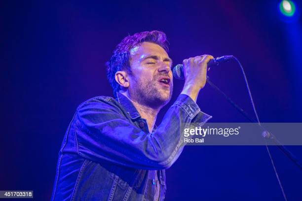Damon Albarn performs at the Roskilde Festival 2014 on July 4 2014 in Roskilde Denmark
