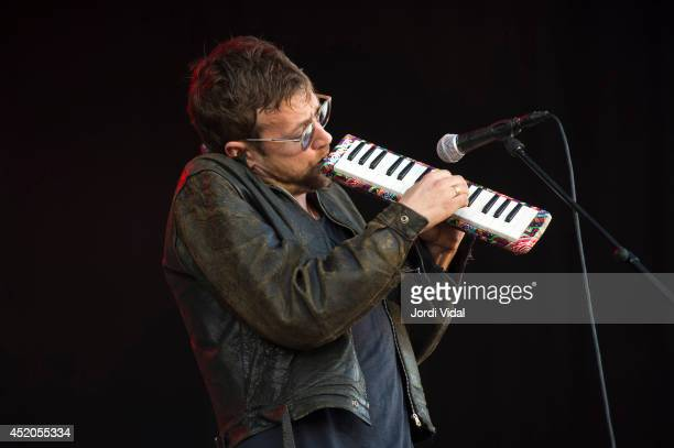 Damon Albarn performs on stage on day one of Cruilla at Parc Del Forum on July 11 2014 in Barcelona Spain