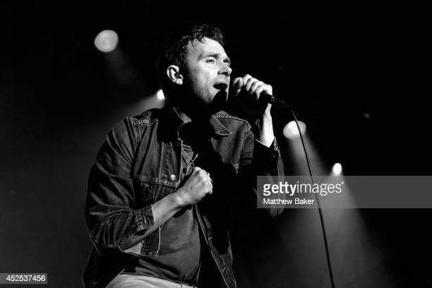 Damon Albarn performs on the Obelisk Arena stage at the Latitude Festival at Henham Park Estate on July 19 2014 in Southwold England