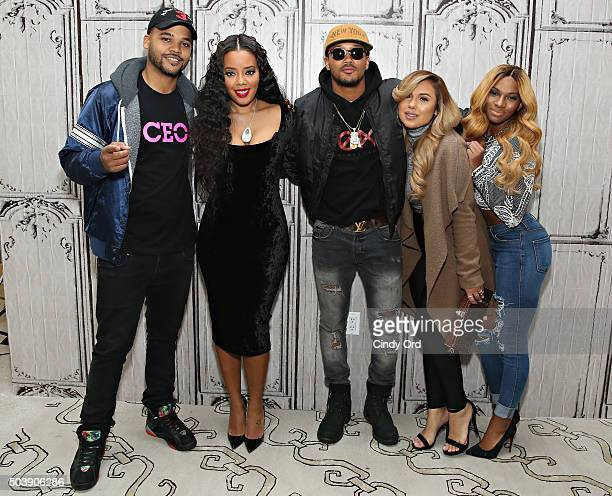 Damon 'Boogie' Dash Angela Simmons Romeo Miller Kristinia DeBarge and Egypt Criss take part in AOL BUILD Series 'Growing Up Hip Hop' at AOL Studios...