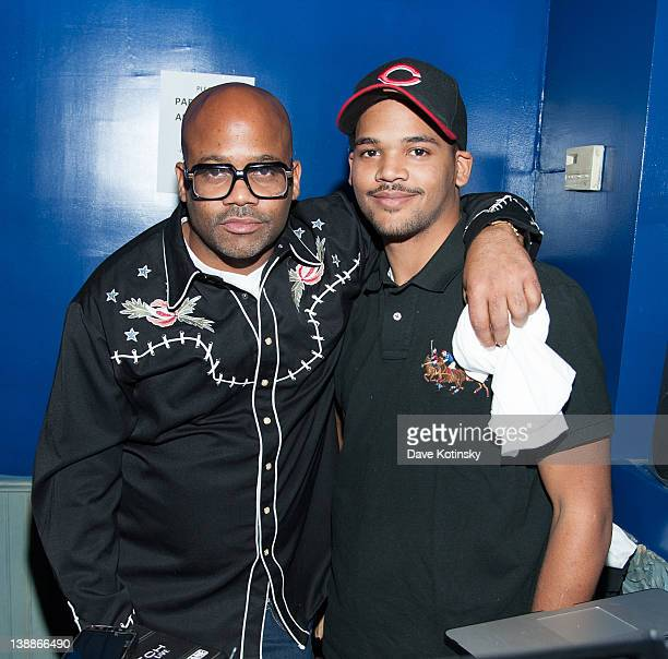 Damon Dash and Boogie Dash attend the launch of 'Blue Roc' magazine at The Elsinore on February 12 2012 in New York City