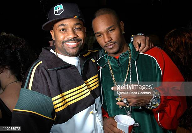 Damon Dash and Cam'ron during Patricia Field for the House of Rocawear Lounge at Ono at the Hotel Gansevort in New York City New York United States
