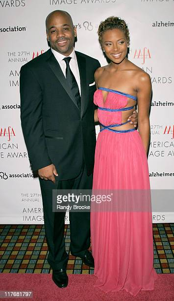 Damon Dash and Eva Pigford during The 2005 AAFA American Image Awards Red Carpet in New York City New York United States