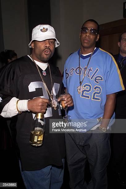 Damon Dash and Jay Z backstage at the Mtv European Music Awards in Frankfurt Germany 11/8/2001 Photo by Frank Micelotta/ImageDirect