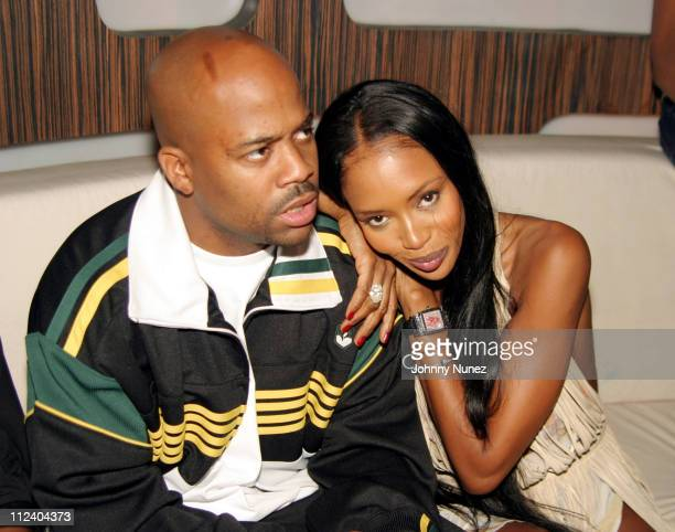 Damon Dash and Naomi Campbell during Andre Harrell Birthday Party at 17 in New York City New York United States