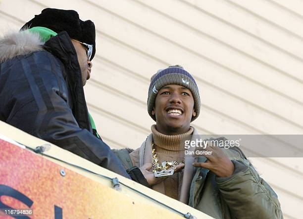 Damon Dash and Nick Cannon during 2007 Park City Seen Around Town Day 2 at Streets of Park City in Park City Utah United States