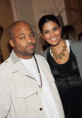 Damon Dash and Rachel Roy at the Marni dinner for Consuelo Castiglioni