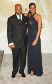 Damon Dash and Rachel Roy during 2005 CFDA Fashion Awards Arrivals at The New York Public Library in New York City New York United States