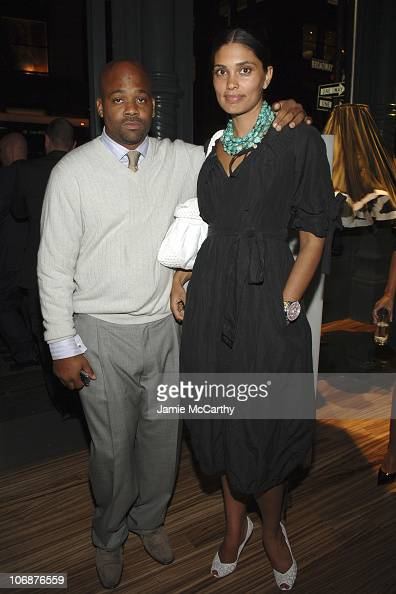 Damon Dash and Rachel Roy during Prada Celebrates The Opening of The 'Waist Down Skirts by Miuccia Prada' Exhibition Arrivals at Prada Soho Epicenter...