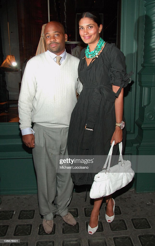 Damon Dash and Rachel Roy during Prada 'Waist Down Skirts By Miuccia Prada' New York Exhibition and Store Opening April 18 2006 at Prada Epicenter...